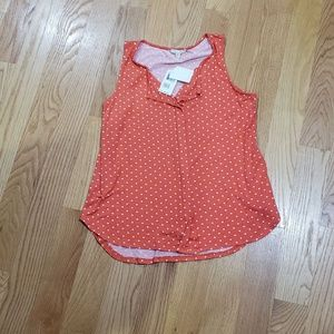 NWT Size L Nordstrom polka dot tank top